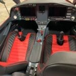 Bentley Red and Black red piping with panel